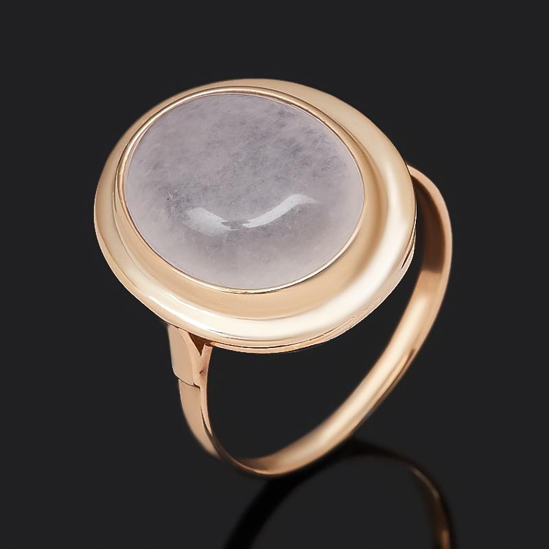 Кольцо розовый кварц (серебро 925 пр. позолота) размер 18,5