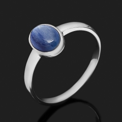 Кольцо кианит синий Бразилия (серебро 925 пр. родир. бел.) размер 16,5