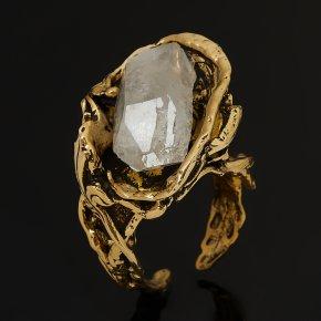 Кольцо горный хрусталь Бразилия (бронза) (регулируемый) размер 17