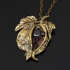Кулон гранат альмандин Индия (биж. сплав, бронза)