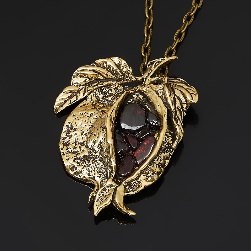 Кулон гранат альмандин  (бронза)
