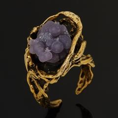 Кольцо халцедон Индонезия (бронза) (регулируемый) размер 18,5