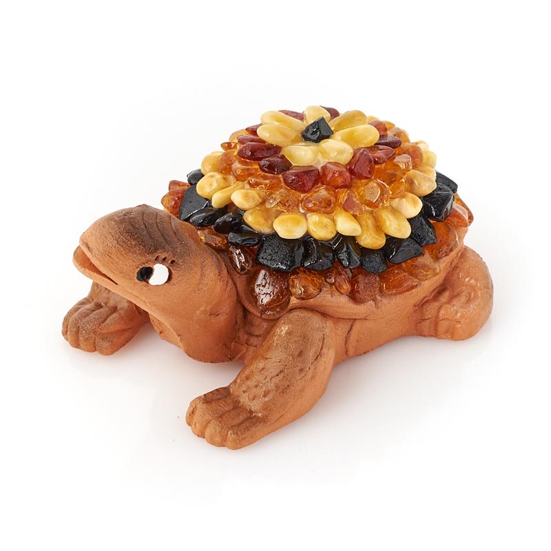 Черепаха янтарь 7-8 см am 094 брелок черепаха бол латунь янтарь