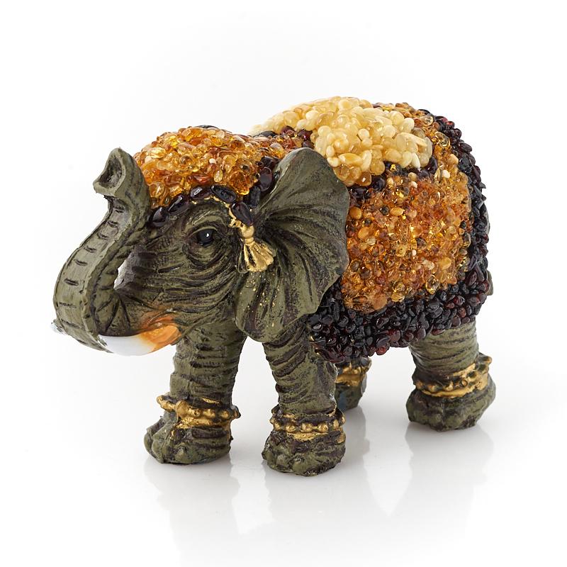 Слон янтарь 12 см
