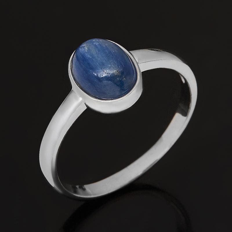 Кольцо кианит синий (серебро 925 пр. родир. бел.) размер 16,5 фото