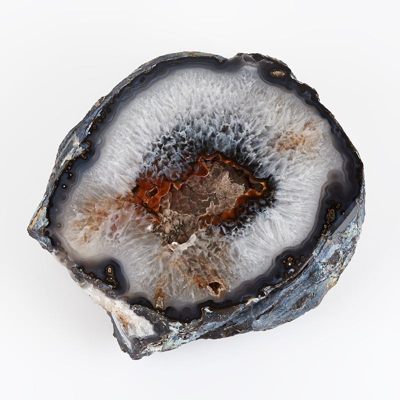 Жеода агат серый XL (16-20 см)