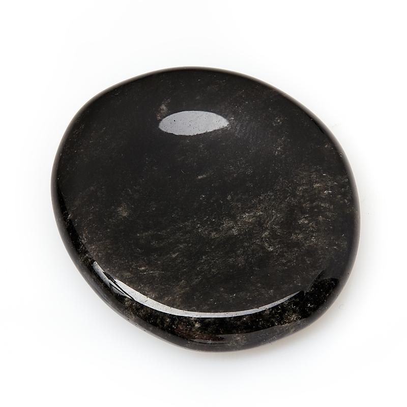 Гармонизатор обсидиан серебристый Мексика 4-5 см