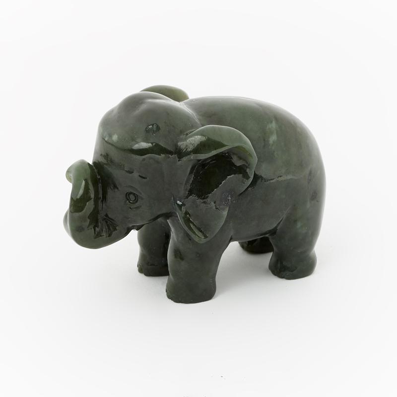 Слон нефрит зеленый 5 см