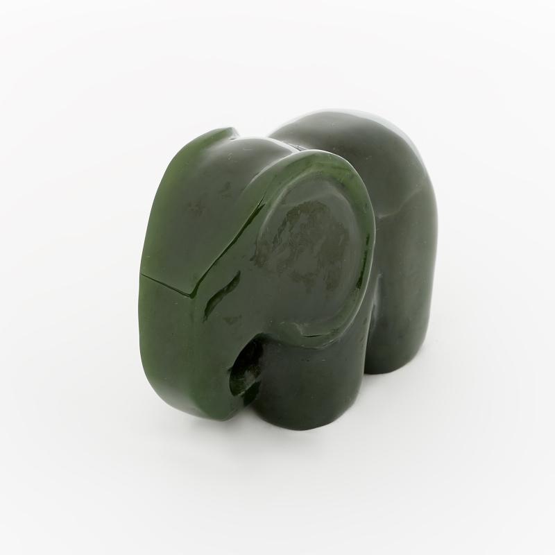 Слон нефрит зеленый 6 см