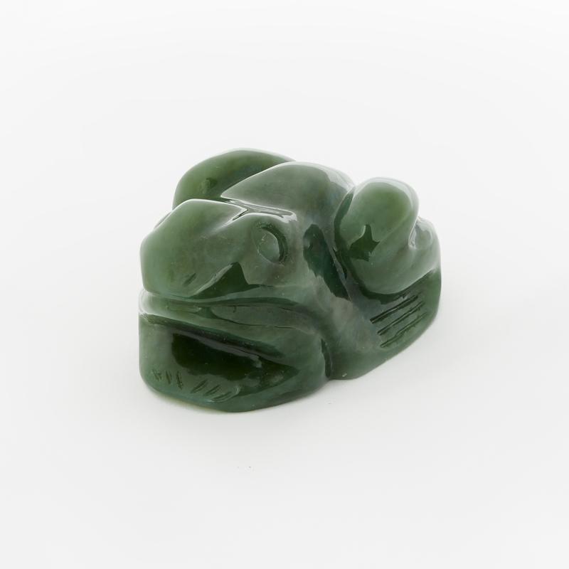 Лягушка нефрит зеленый 6 см