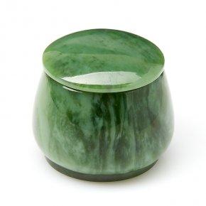 Шкатулка нефрит зеленый Россия 5х5,5 см