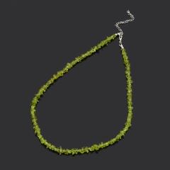 Бусы хризолит США (биж. сплав) 47 см (+7 см)
