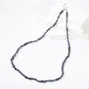 Бусы иолит (кордиерит) Индия (биж. сплав) длинные 84 см (+7 см)