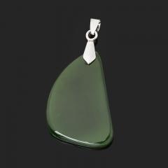 Кулон нефрит зеленый Россия (биж. сплав) 5 см