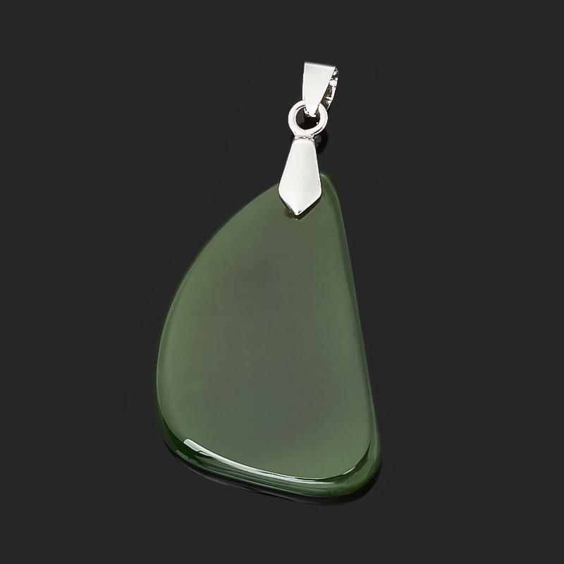 Кулон нефрит зеленый (биж. сплав) 5 см