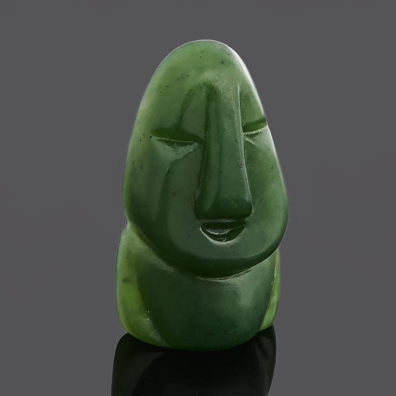 Статуэтка бурхан нефрит зеленый 3-3,5 см