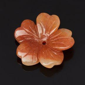 Пуговица цветок авантюрин персиковый Индия 3 см