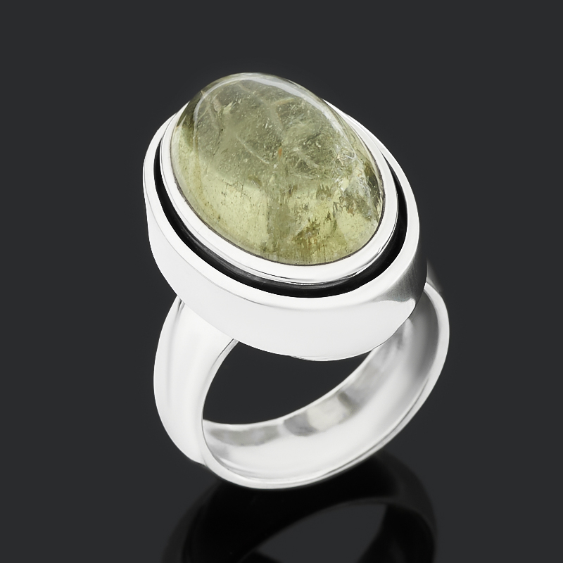 Кольцо берилл (серебро 925 пр. оксидир.) размер 17,5