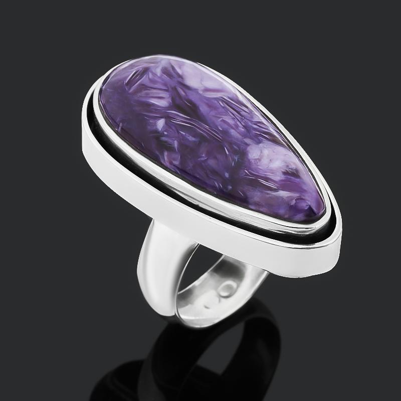 Кольцо чароит (дублет) (серебро 925 пр. оксидир.) размер 18 кольцо чароит серебро 925 пр оксидир размер 18