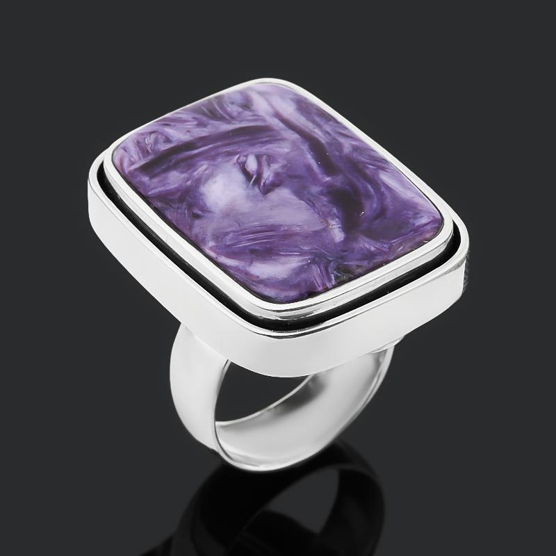Кольцо чароит (дублет) (серебро 925 пр. оксидир.) размер 17,5 кольцо чароит серебро 925 пр оксидир размер 18