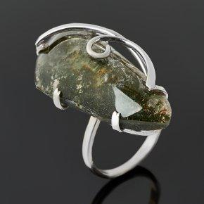 Кольцо кварц с хлоритом Россия (нейзильбер) размер 19