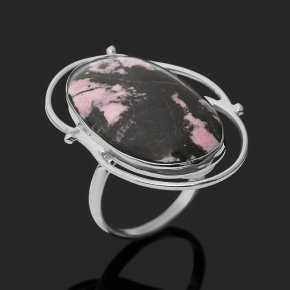 Кольцо родонит Россия (нейзильбер) размер 18