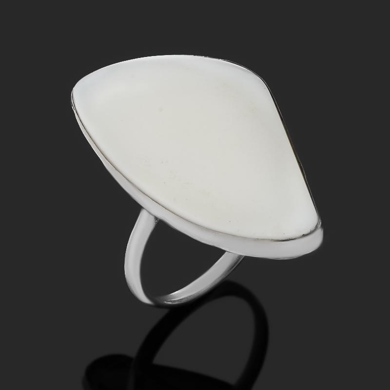 Кольцо кахолонг (нейзильбер) размер 19,5