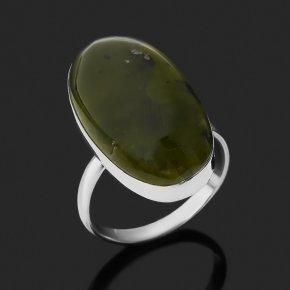 Кольцо опал зеленый Казахстан (нейзильбер) размер 17,5