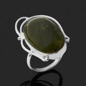 Кольцо опал зеленый Казахстан (нейзильбер) размер 16,5