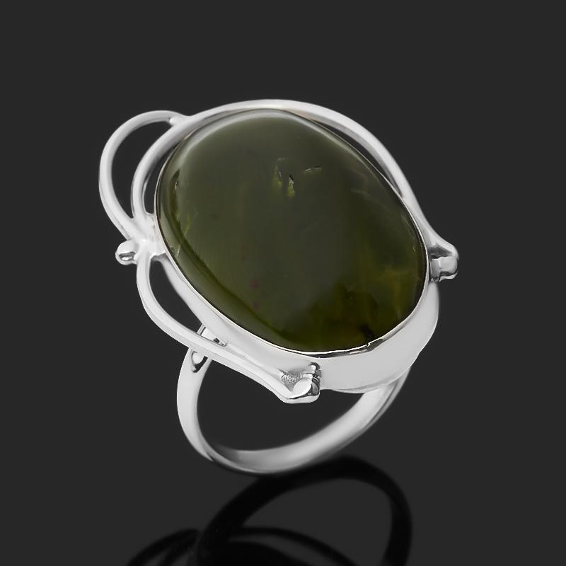 Кольцо опал зеленый (нейзильбер) размер 16,5