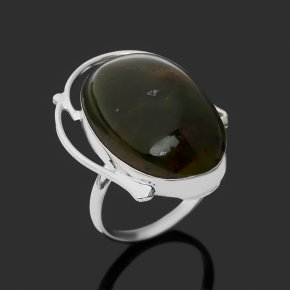 Кольцо опал зеленый Казахстан (нейзильбер) размер 18,5