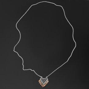 Кулон солнечный камень Индия (биж. сплав, сталь хир.) огранка