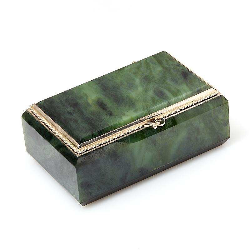Шкатулка нефрит зеленый (мельхиор) 9х5,5х4 см шкатулка нефрит зеленый мельхиор 9 5х5 5х4 см