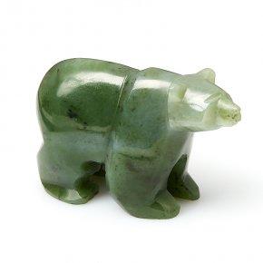 Медведь нефрит зеленый Россия 7,5 см