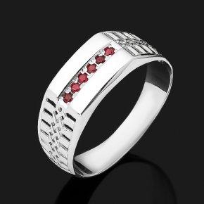 Кольцо рубин Мьянма (серебро 925 пр. родир. бел.) огранка размер 19,5