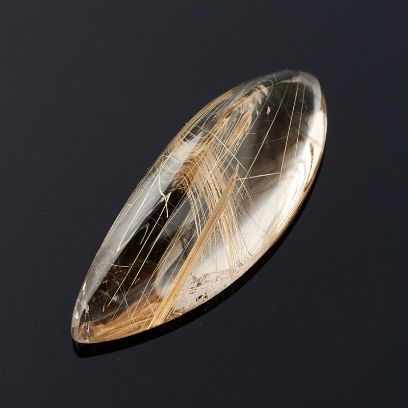 Кабошон рутиловый кварц  11*29 мм украшения с рутиловый кварц
