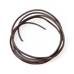 Шнурок (кожа натуральная) (коричневый) 70 см
