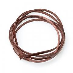 Шнурок (кожа натуральная) (коричневый) 100 см