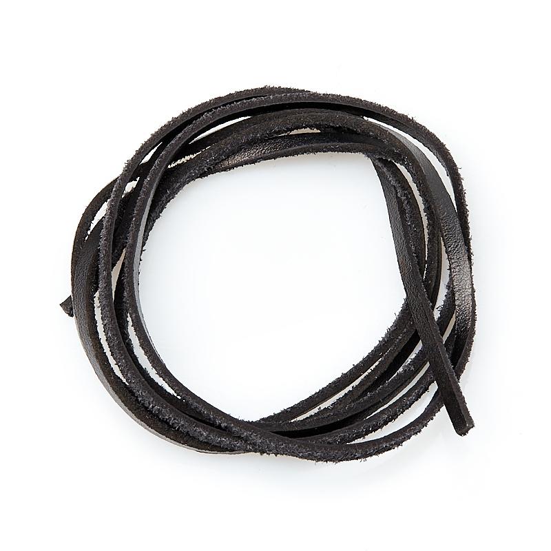 Шнурок (кожа натуральная) (черный) 100 см