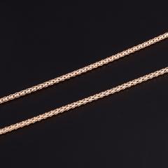Цепь (серебро 925 пр. позолота) пустотелая 45 см