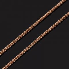 Цепь (серебро 925 пр. позолота) полновесная колос 50 см