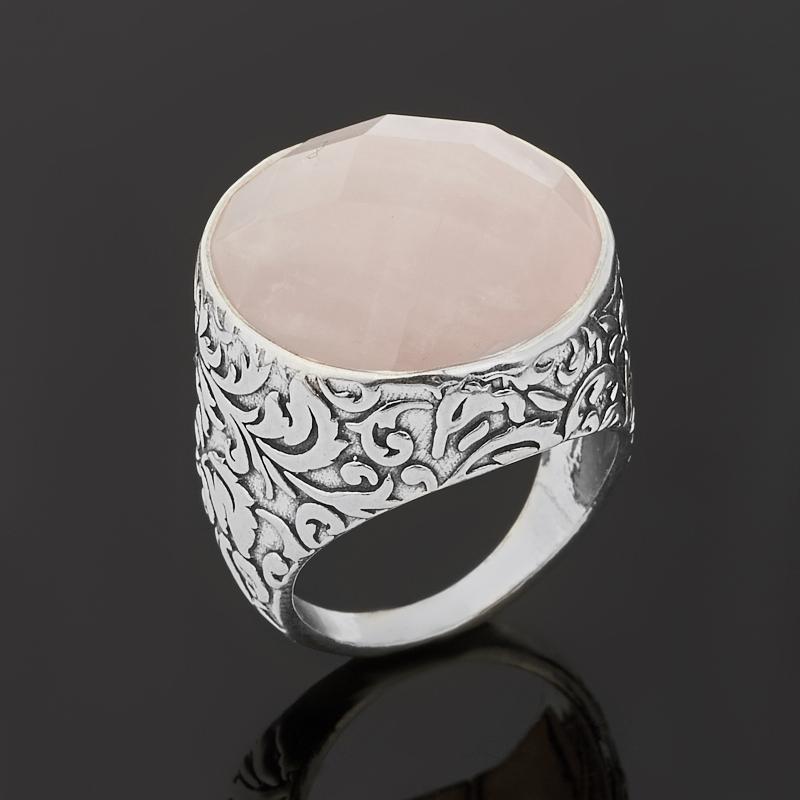 Кольцо розовый кварц (серебро 925 пр. оксидир.) огранка размер 18 кольцо розовый кварц серебро 925 пр оксидир размер 18