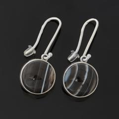 Серьги агат черный Бразилия (серебро 925 пр. оксидир.)