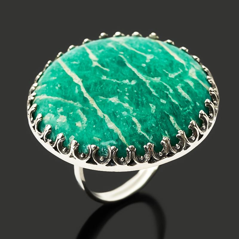 Кольцо амазонит (серебро 925 пр. оксидир.) размер 18,5