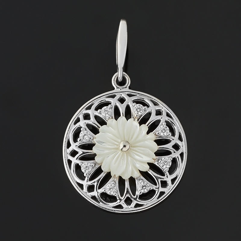 Кулон перламутр белый (серебро 925 пр.)