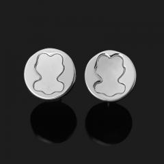 Серьги перламутр белый Индонезия (серебро 925 пр.) пуссеты