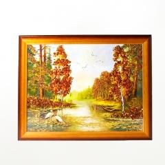 Картина Природа янтарь Россия 35х45 см