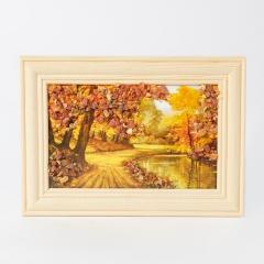 Картина Природа янтарь Россия 10х14 см