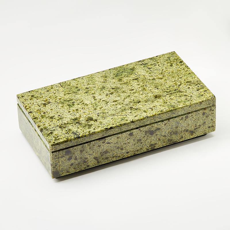 Шкатулка змеевик Россия 17,5х,9х5 см