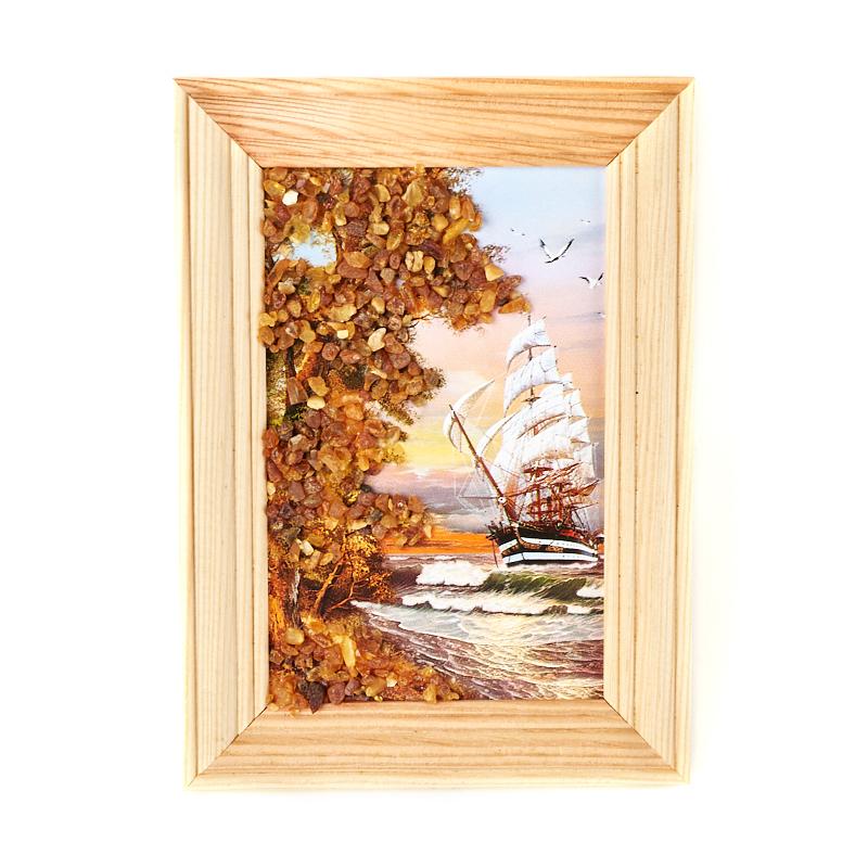 Картина Море янтарь 10х14 см